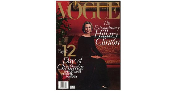 Hillary gets the Vogue glamour treatment, 1998.
