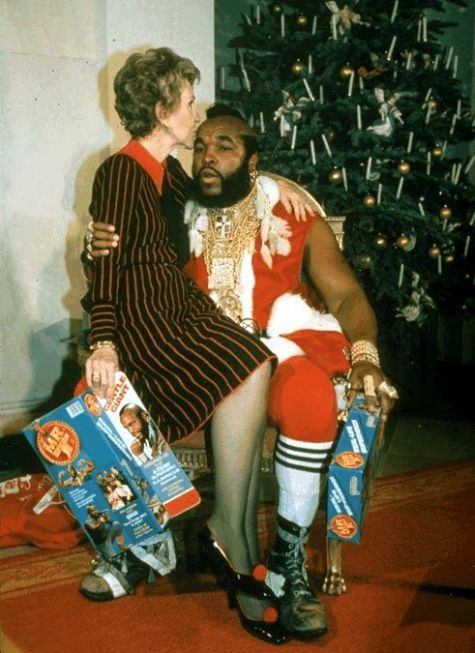 Nancy Reagan with Mr. T