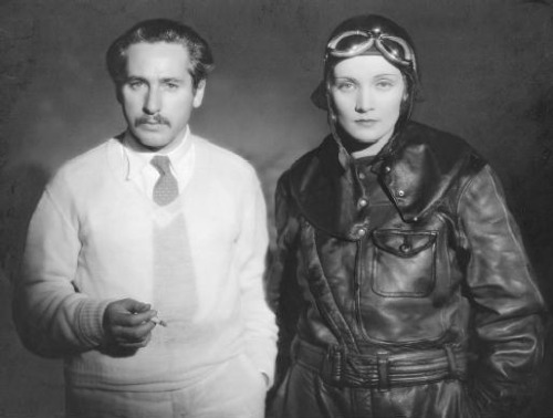 "Josef Von Sternberg & Marlene Dietrich on the set of Dishonored (1931, dir. Josef Von Sternberg) ""The strongest appeal [of the film medium] to the masses was the simplest one: the formula always revolves around sex and its biological associate, violence. One bond that links all audiences is the animal in man."" -Josef Von Sternberg"