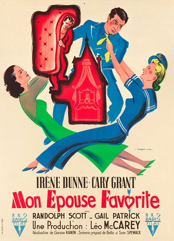 "French poster for ""My Favorite Wife"""