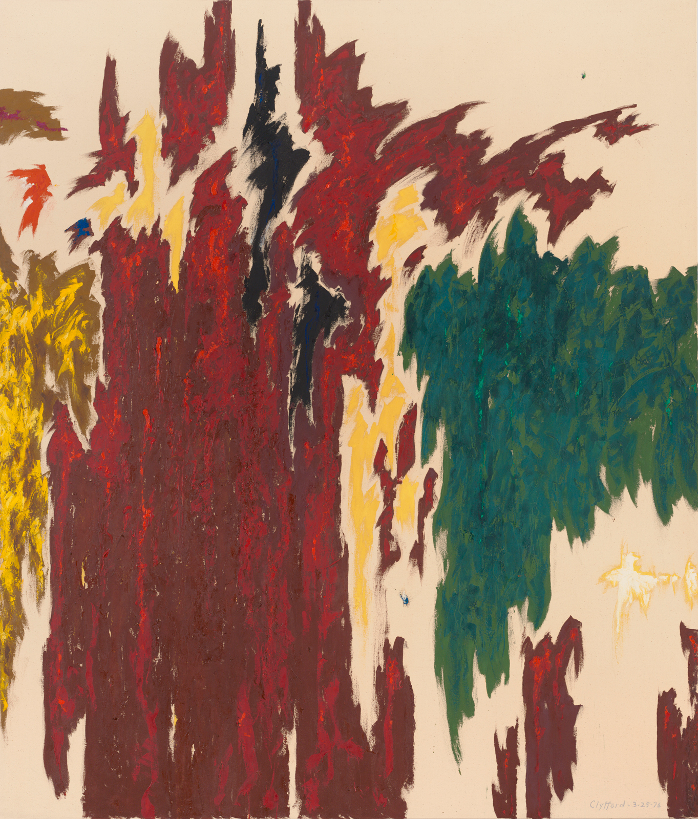 Clyfford Still PH-1007, 1976 Oil on canvas 92 x 78.5 in
