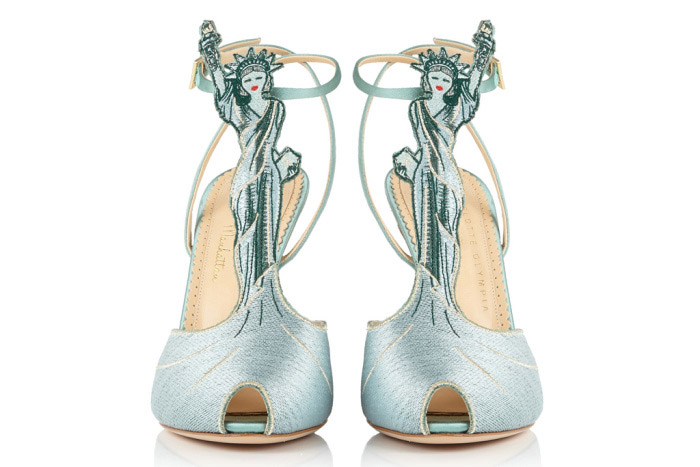"""Freud asked: """"What do women want?"""" Poor clueless Siggy. Women want shoes. And we really like the Manhattan Liberty Sandal by Charlotte Olympia."""