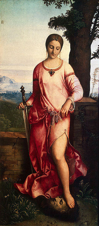 Giorgione, Judith, 1504 Oil on canvas 56 1/2 x 26""