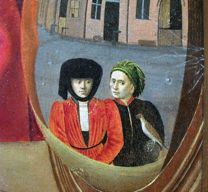 Detail of the reflection in the Goldsmith painting.