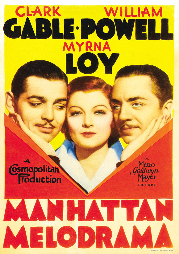 Fashions Of 1934 Full Movie Poster for Manhattan Melodrama
