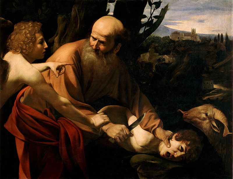 Sacrifice of Isaac by Caravaggio, 1603.