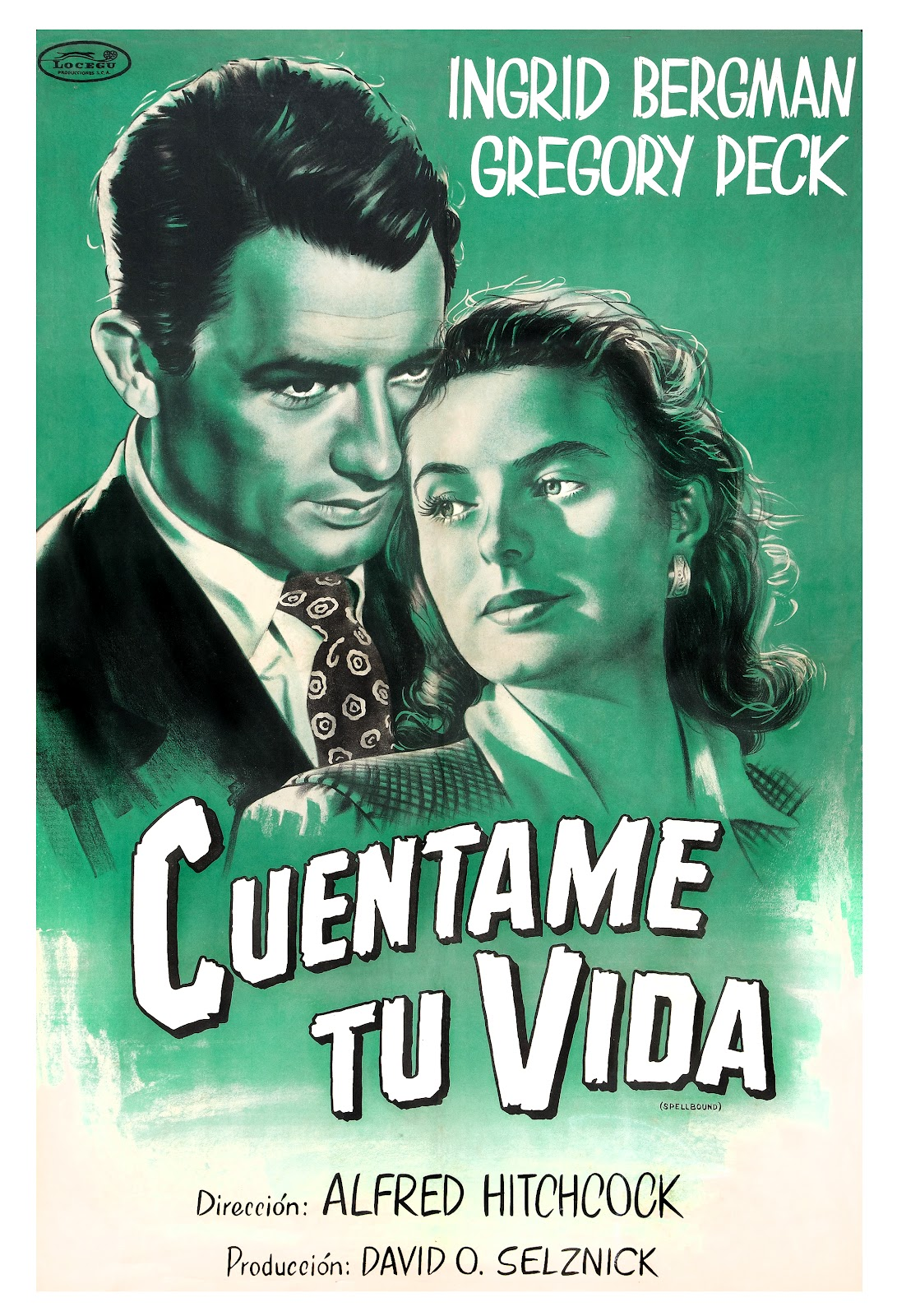 Argentinian poster for Spellbound, 1945.