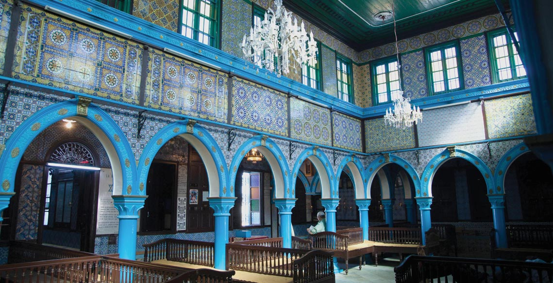 The El Ghriba Synagogue on the Island of Djirba, Tunisia.