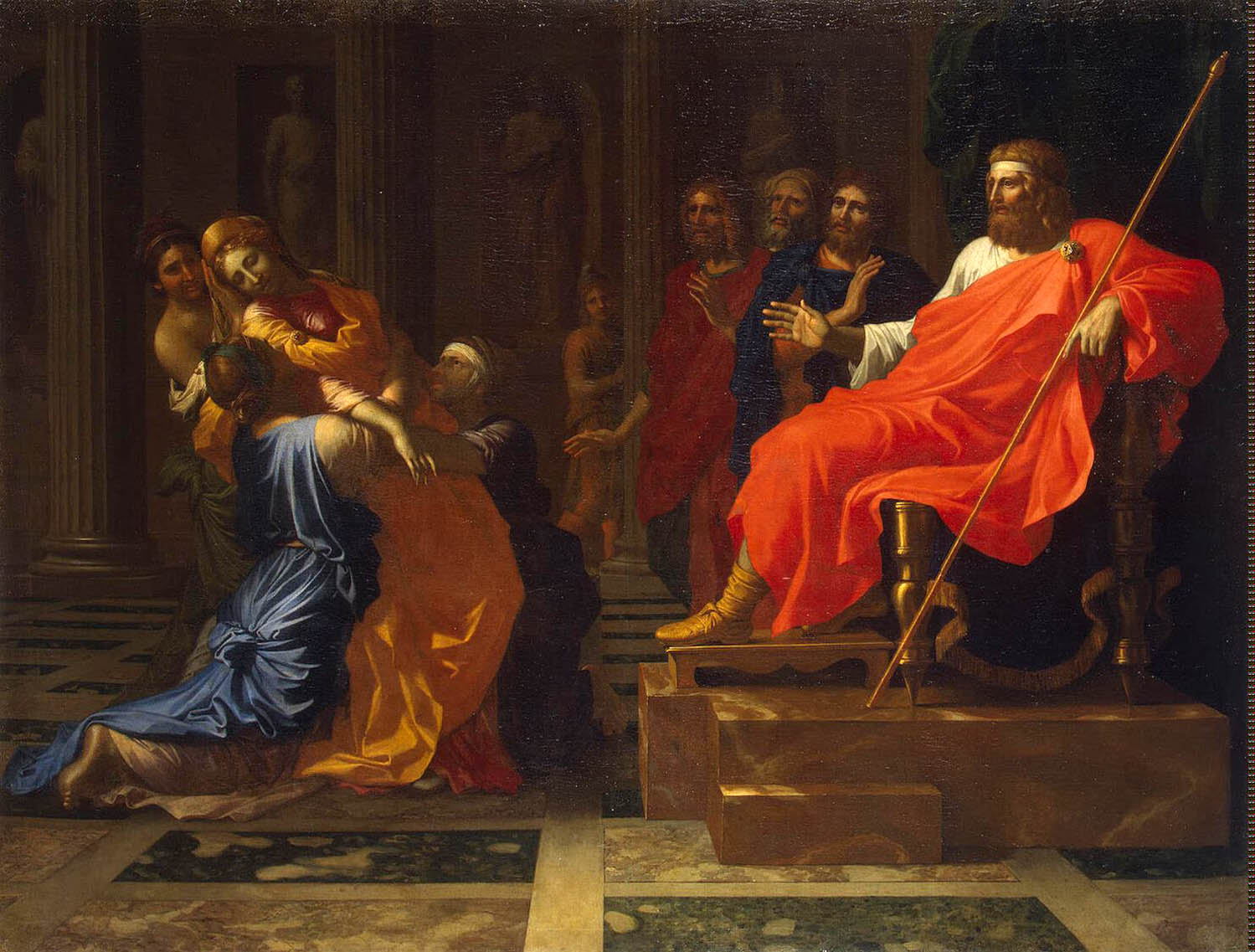 Nicolas Poussin Esther Before Ahasuerus, 1640s Oil on canvas 47 x 61""