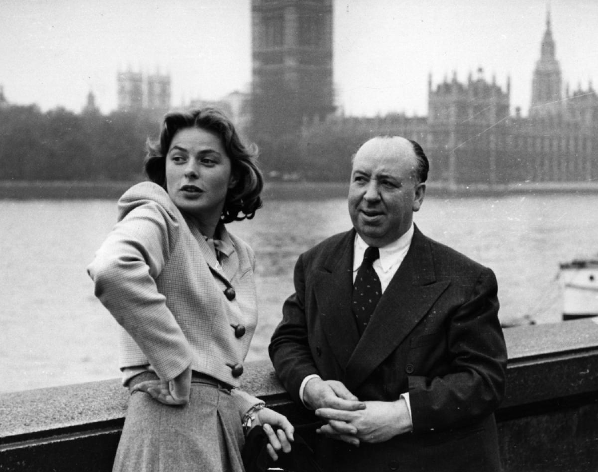 Image result for INGRID BERGMAN AND ALFRED HITCHCOCK