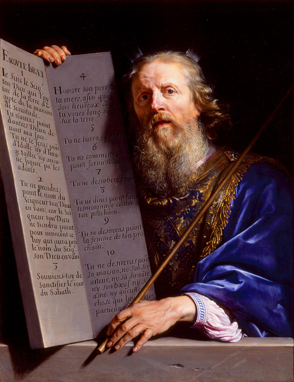 Philippe De Champaigne, Moses Presenting the Ten Commandments, 1648 Oil on canvas 39 x 30""