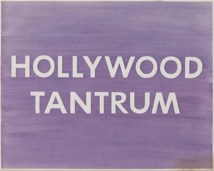 Hollywood Tantrum by Edward Ruscha, 1979. pastel on paper, support 584 x 737 mm.