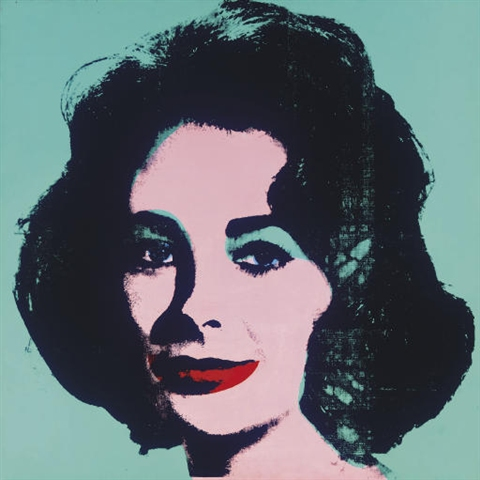 Andy Warhol, Liz, 1963, silkscreen on linen, 40 x 40 in.