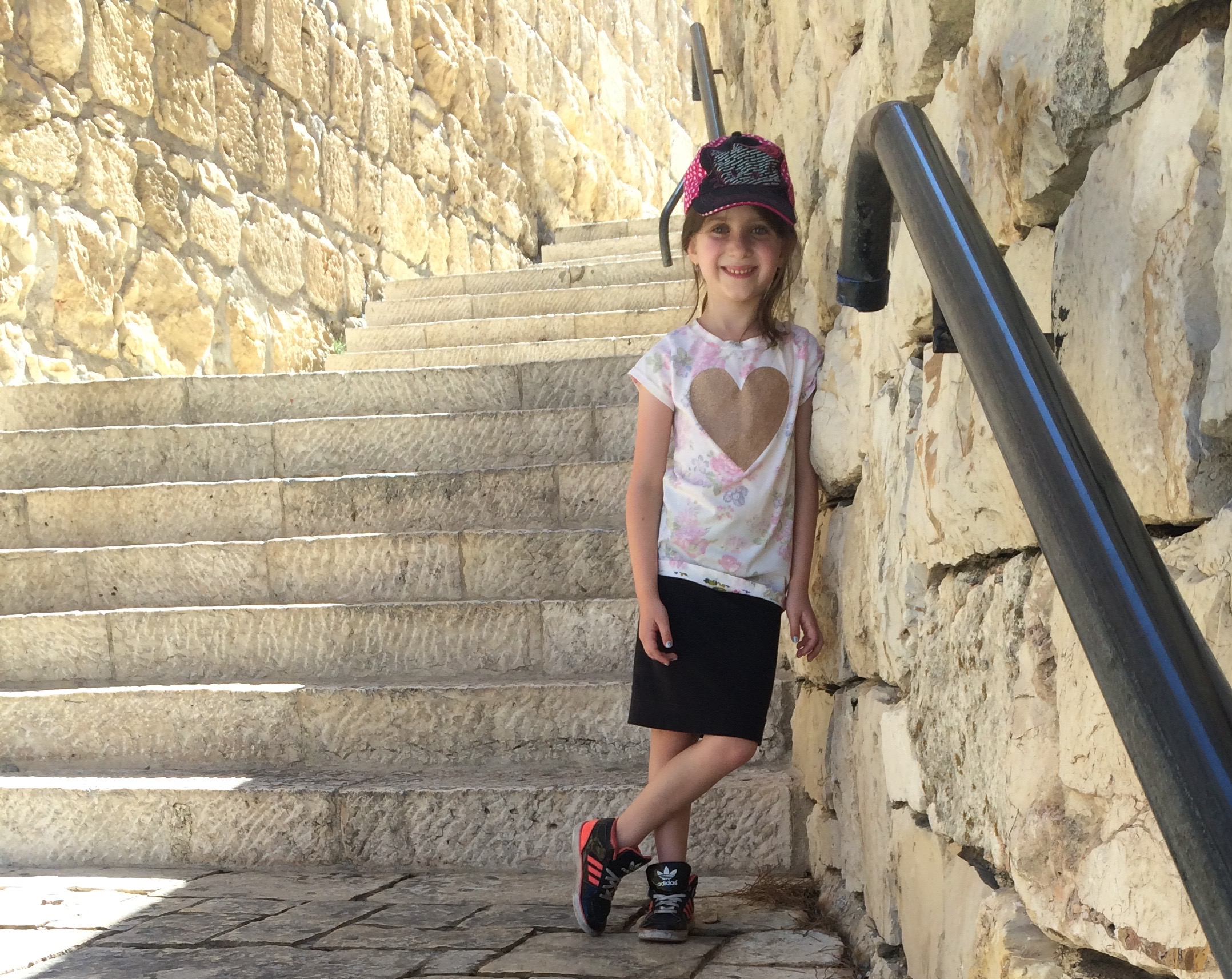 Maayan Ariel is having a wonderful time exploring the Old City.