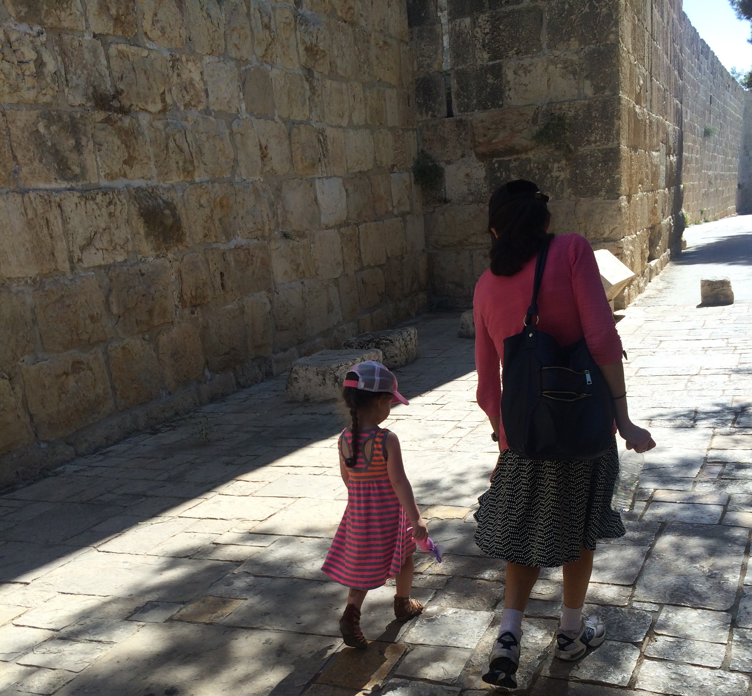 Karen and Lielle Meital walking through the Old City. This is the first time Karen and I have been in Israel with our children and grandchildren.