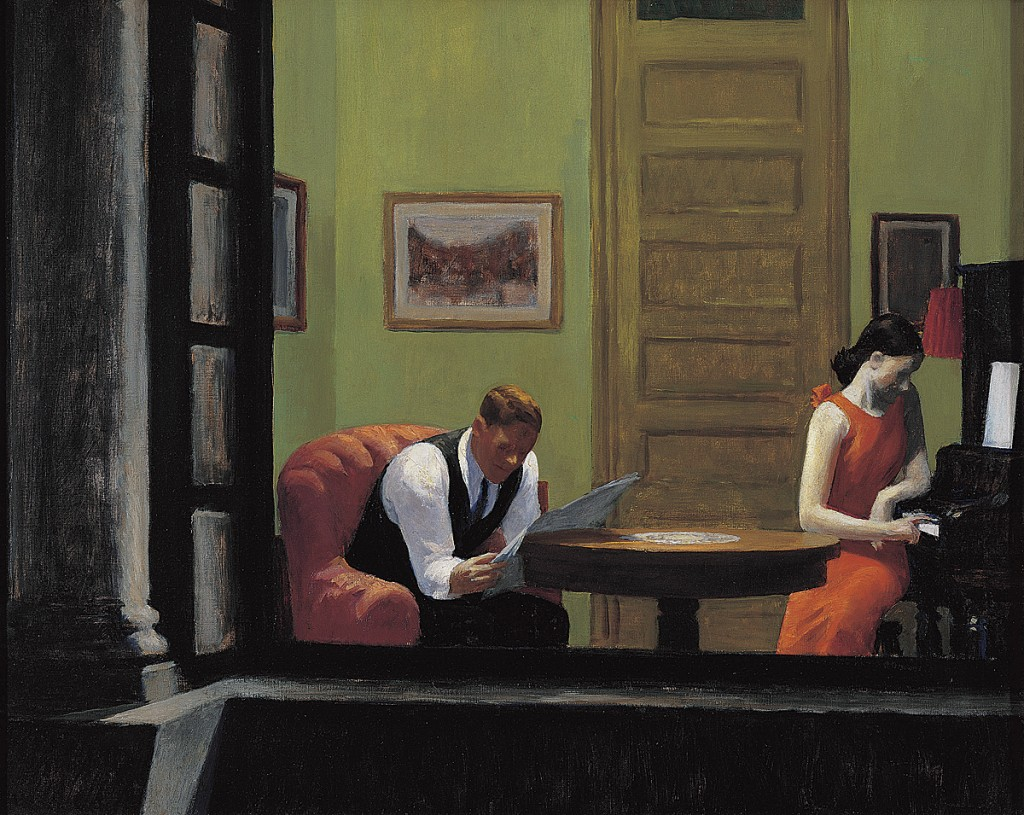 Room in New York, by Edward Hopper, 1932