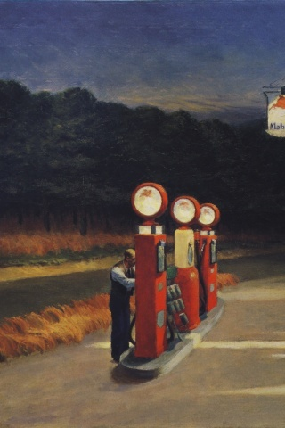 Gas by Edward Hopper, 1940.