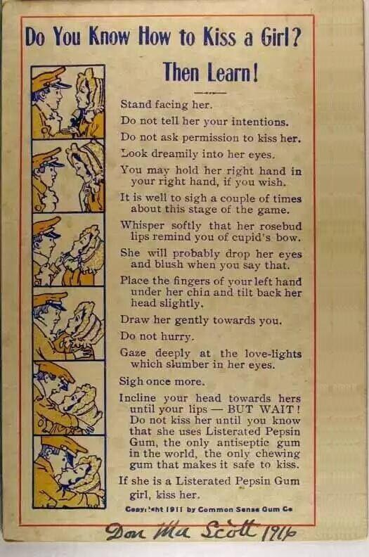 Chewing gum ad, 1916