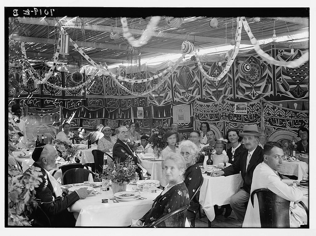 Interior of the Goldsmidt succah, 1934.