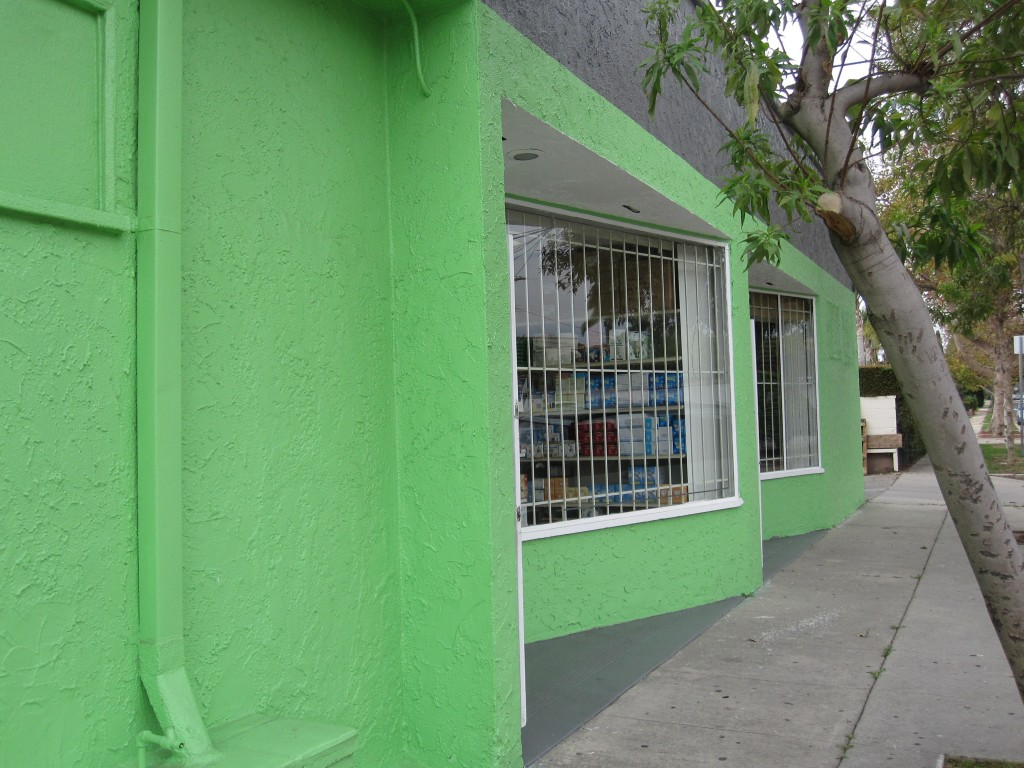 Green Storefront on Robertson Blvd., Los Angeles by yours truly.