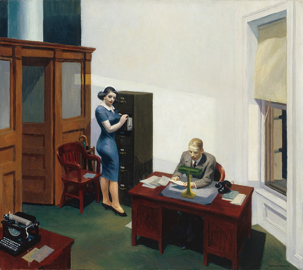 Office at Night by Edward Hopper, 1940.