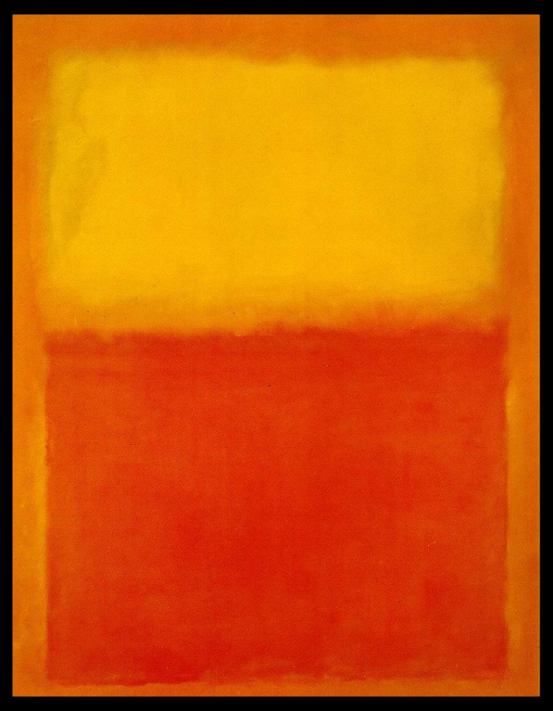 Mark Rothko, Orange and Yellow, 1956 oil on canvas, 91 x 71 inches.