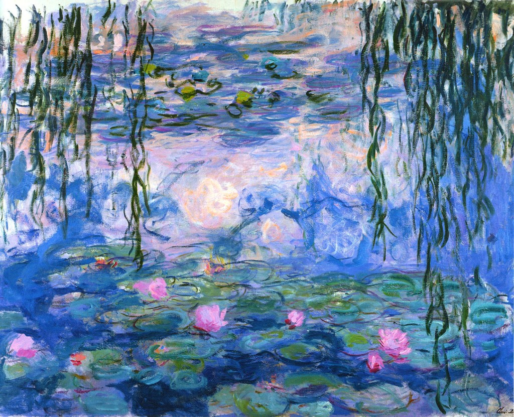 Water Lillies, Claude Monet, oil on canvas, 1919.