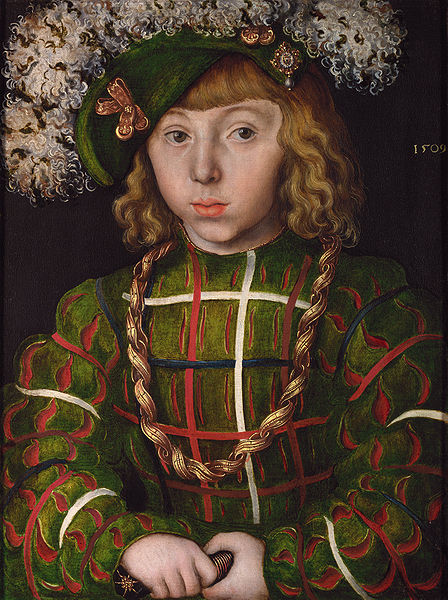 Lucas Cranach the Elder - Portrait of Johann Friedrich the Magnanimous, 1619