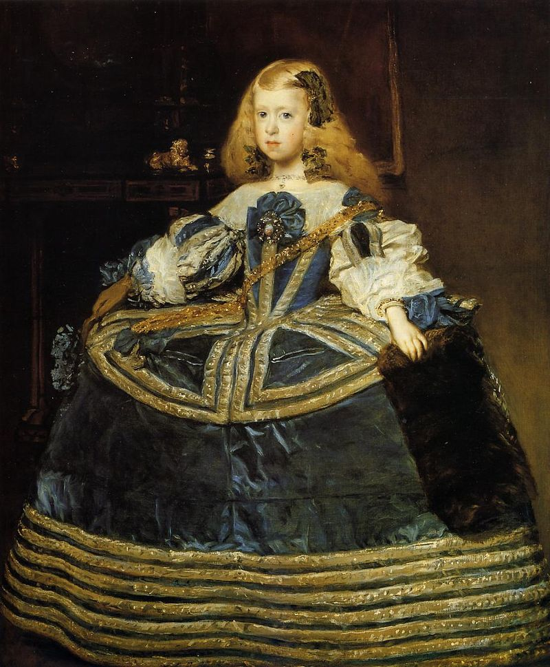 Diego Velázquez, Portrait of the eight-year-old Infanta Margarita Teresa in a Blue Dress ,1659.