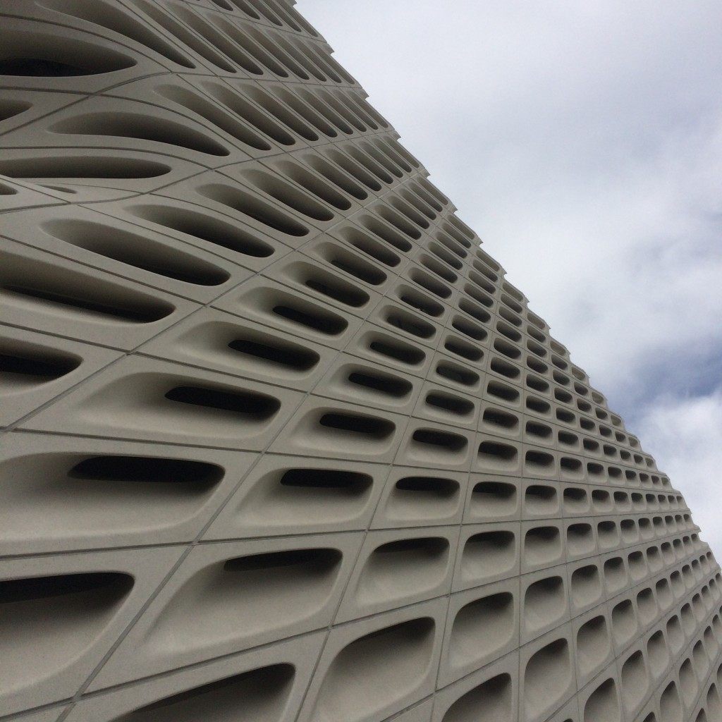 The other day, Karen and I went to the new Broad Museum in downtown Los Angeles. We ordered tickets in advance, parked, and only had to wait a few minutes to get in. The Museum bureaucracy is a model of organization and all the docents were incredibly friendly and helpful.