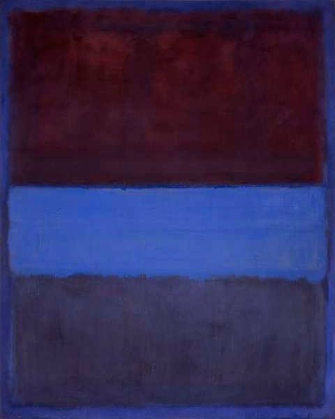 Mark Rothko, No. 61 (Rust and Blue), 1953, 45 in × 36 in.