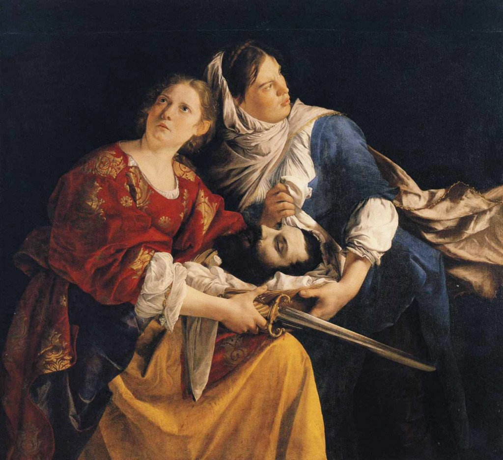 Orazio_Gentileschi, Judith and Her Maidservnt with the Head of Holofernes,