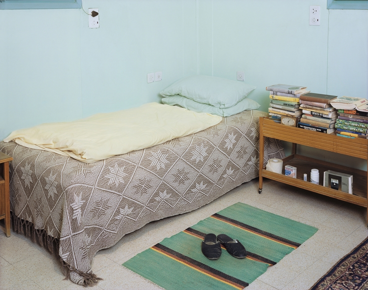 Sharon Ya'ari, David Ben-Gurion's Bed, Kibbutz Sde Boker, 2012 Archival Pigment Print 25.98 x 33.07 in | 66 x 84 cm Edition of 5