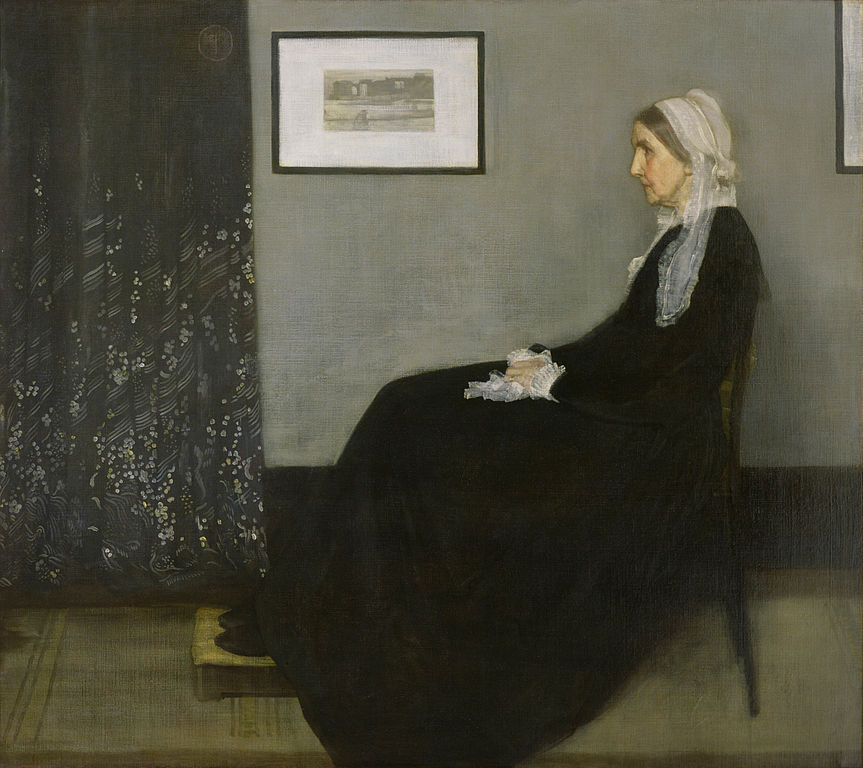 James Whistler, Arrangement in Grey and Black No. 1, Alternative title: Portrait of the Artist's Mother, 1871.