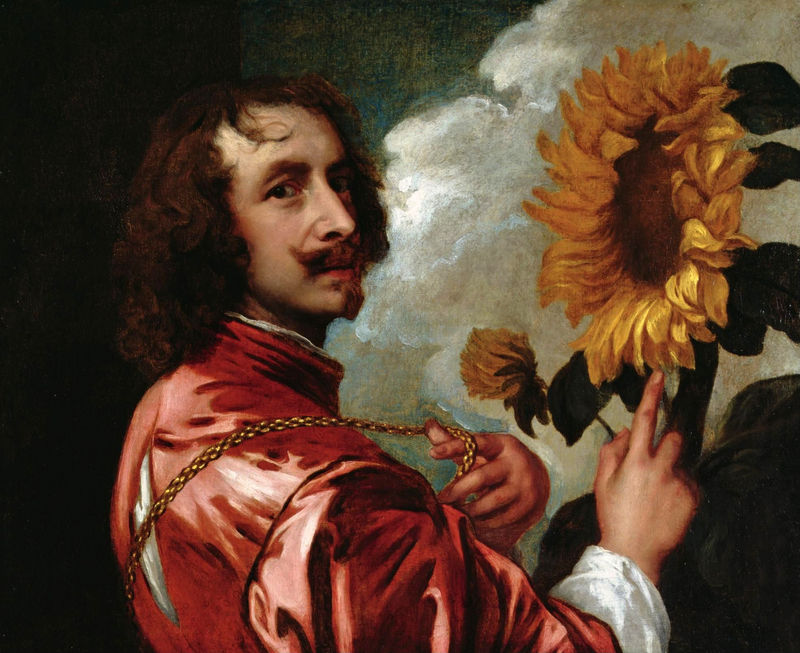 Anthony van Dyck, Self-Portrait with Sunflower, 1632, oil on canvas, 73 x 60 cm.