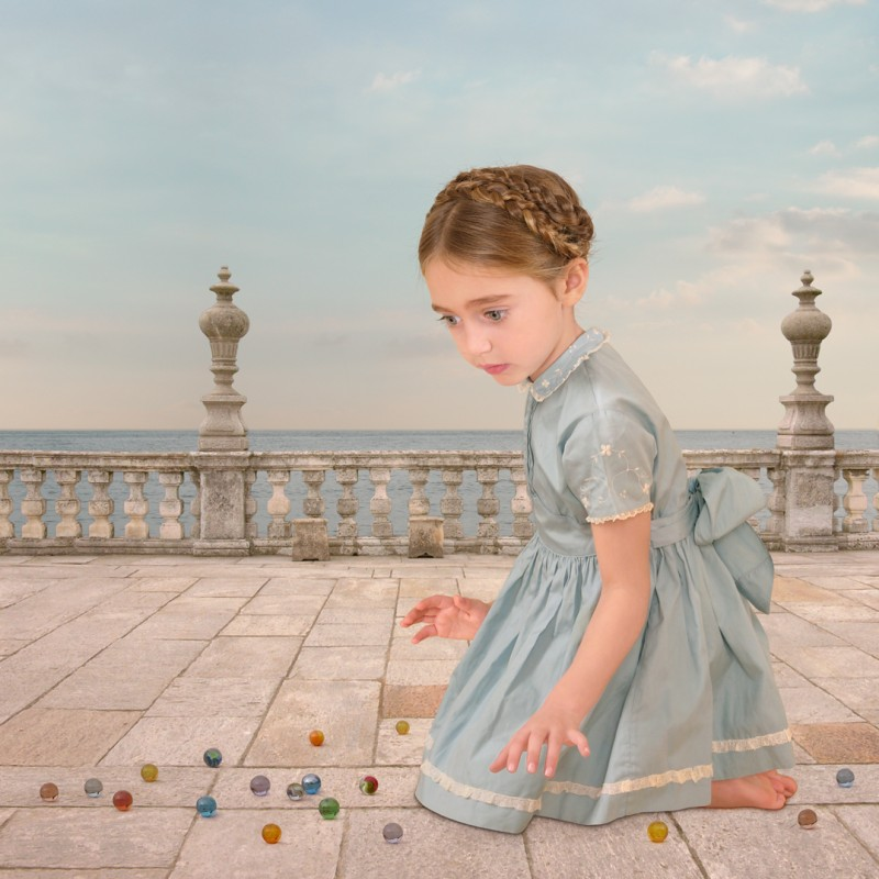 Loretta Lux, Girl With Marbles, 2005.