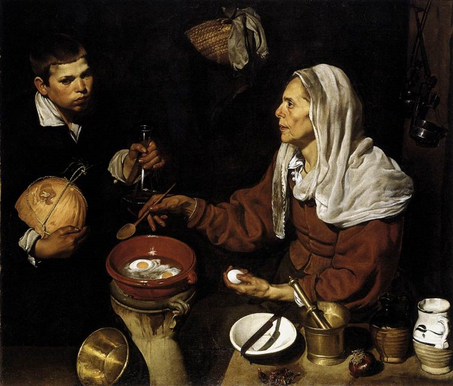 Diego Velazquez, Old Woman Frying Eggs, 1618.