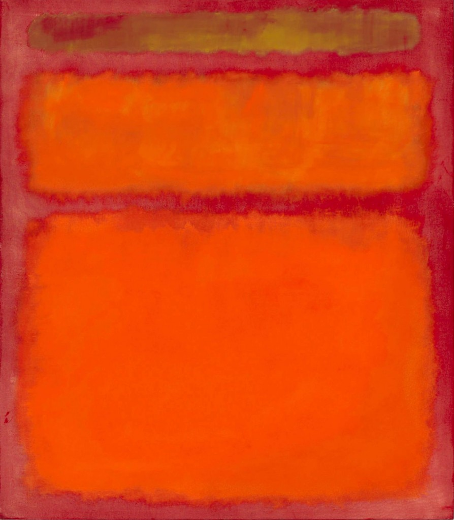 Mark Rothko, Orange, Red, Yellow, 1961.