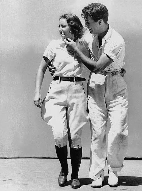 """The boy's got a lot to learn and I've got a lot to teach."" —Barbara Stanwyck when first meeting future husband Robert Taylor."