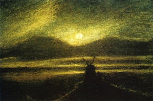Albert Pinkham Ryder, The Old Mill By Moonlight, Completion in 1885.
