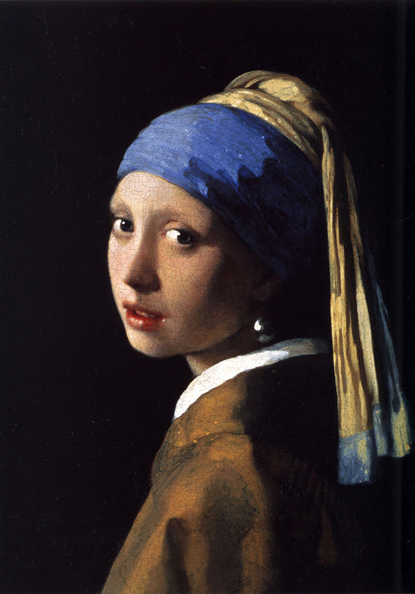 Johannes Vermeer, Girl with a Pearl Earring, oil on canvas, 1665.
