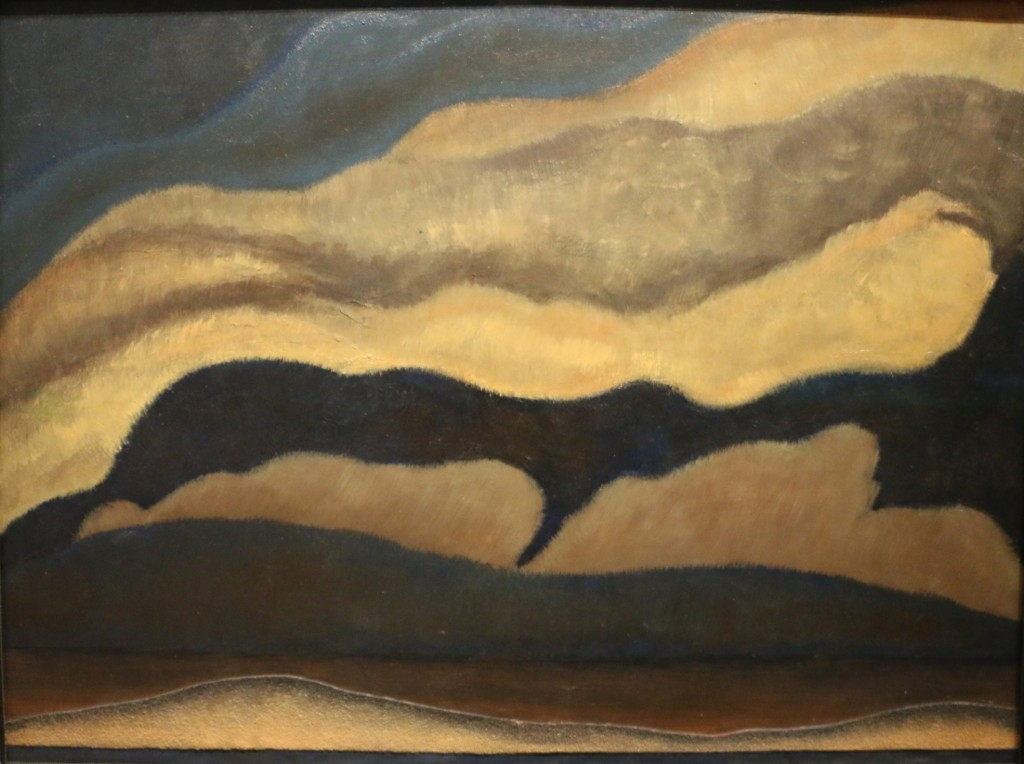 Arthur Dove, Clouds, oil and sandpaper on zinc, 1927