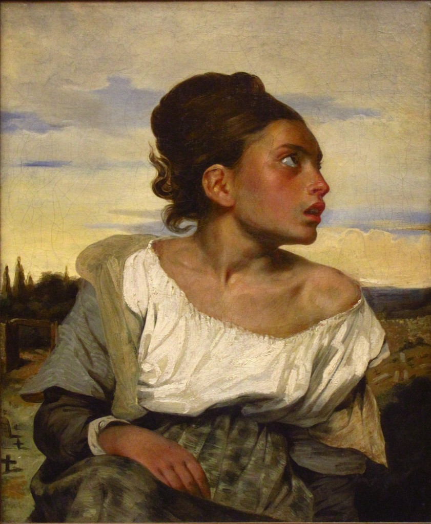 "Eugène Delacroix, ""Orphan Girl at the Cemetery,"" 1824"