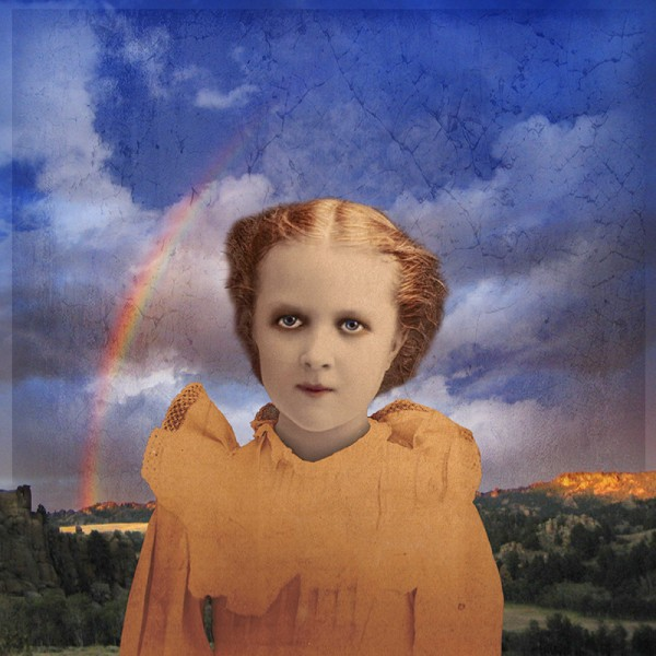 "Fran Forman, Girl With a Rainbow, Date: 2011 Archival pigment print Size: 17x17"" Edition: 15"