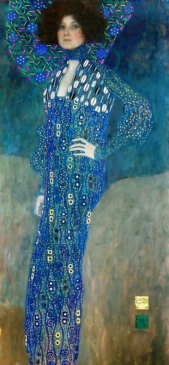 "Gustav Klimt, ""Portrait of Emilie Flöge,"" 1902, oil on canvas, 181 x 84 cm"