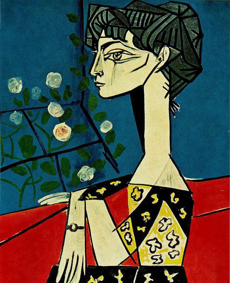 Pablo Picasso, Jacqueline with Flowers, 1954.