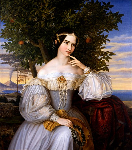 Moritz Daniel Oppenheim (1800–1882) Marriage Portrait of Charlotte von Rothschild 1836 Mediumoil on canvas Dimensions 120 × 103 cm (47.2 × 40.6 in)
