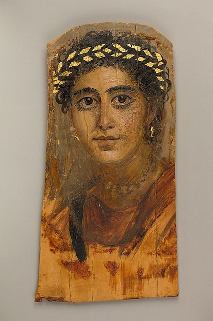 Portrait of a young woman in red, A.D. 90–120. Egyptian