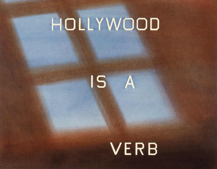 Ed Ruscha, Hollywood is a Verb