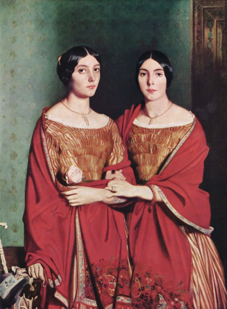 "Theodore Chassériau, ""The Two Sisters,"" 1843, oil on canvas 71 X 53"